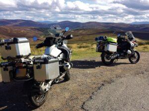 motorreizen door Schotland